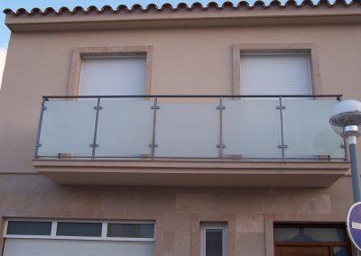 Balcon de acero inox. con cristal. Eduardo Serra